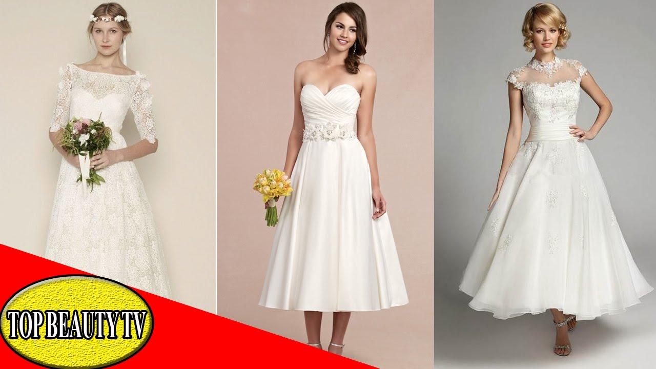 Tea Length Wedding Dresses, White Tea Length Dress