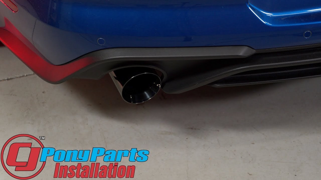 2018 2019 mustang ecoboost ford performance by borla sport catback exhaust install