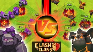 "Clash of Clans - ""GOLEMS VS LAVA HOUNDS"" WHICH TROOP WILL WIN? Epic Battle of the Tanks!"
