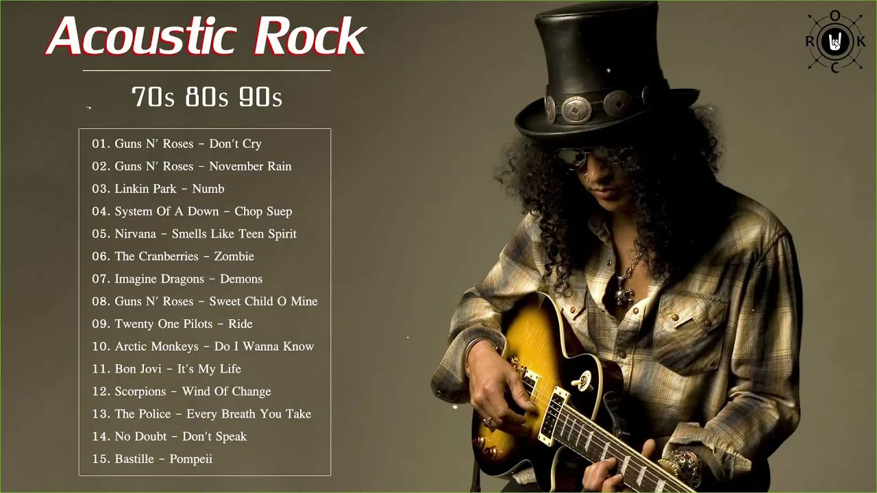 Acoustic Rock Songs 70s 80s 90s - Top Classic Rock Acoustic Rock Songs All  Time
