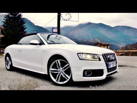 Audi S5 Cabriolet Driving, Accelerations and Sound - YouTube