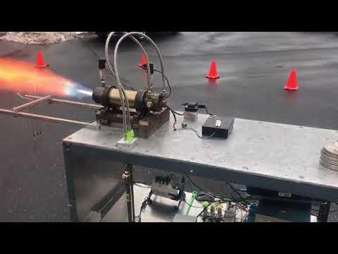 Hybrid Propellant Rocket Engine. 150psi oxygen supply pressure