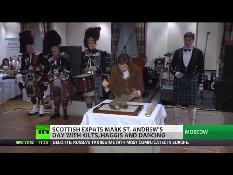 Scottish expats celebrate St. Andrews day in Moscow