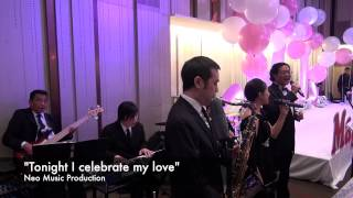 """Tonight I celebrate my love"" - Wedding Jazz Band with 2 vocals"