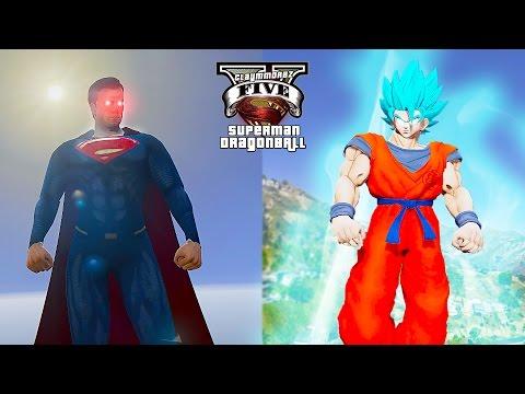 Dragon Ball Super - SSB Goku VS Superman ! Battle Of Gods (GTA 5 Ultimate Superman)🚶🏻☀️️