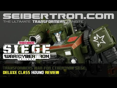 Transformers War for Cybertron Siege HOUND Deluxe Class review from Seibertron.com