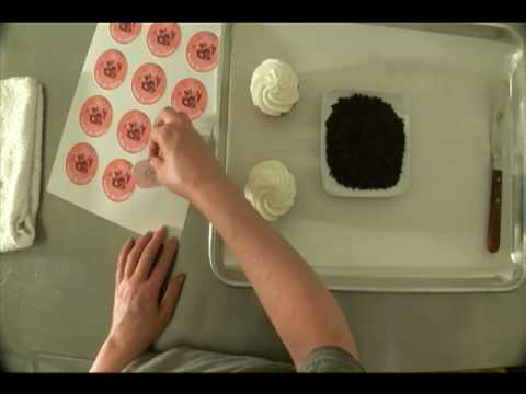 Make Edible Cake Pictures : How to put on an edible prints on a cup cake - YouTube