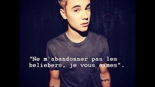 Lettre - Justin Bieber (Pour ses fans/Beliebers)