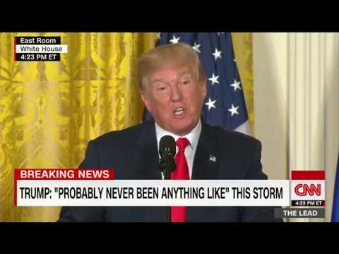 Trump news conference amid flooding in Texas (full)