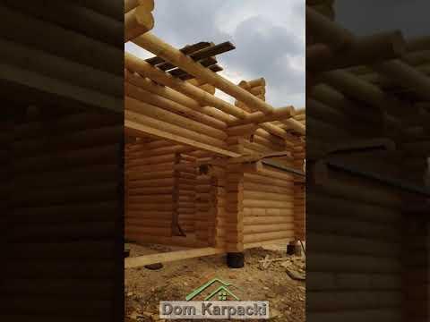 Строительство деревянного дома из бруса/Wooden house manufacturing смотреть видео онлайн