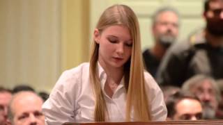 15 year old girl leaves anti-gun politicians speechless [MP4 Video - HD 720p] [MP4 Video - HD 720p]