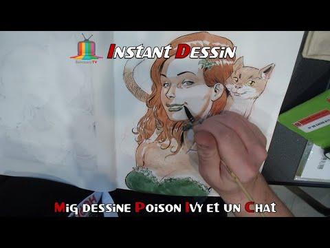 Instant Dessin : Mig Dessine Poison Ivy & Un Chat