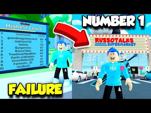 BECOMING THE NUMBER 1 PLAYER IN MY SUPERMARKET BECAUSE I CAN'T IN ARCADE EMPIRE! (Roblox)