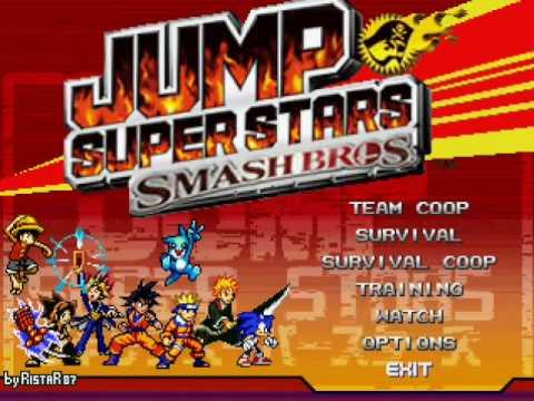 JUMP SuperStars SmashBros M.U.G.E.N (2010) with download