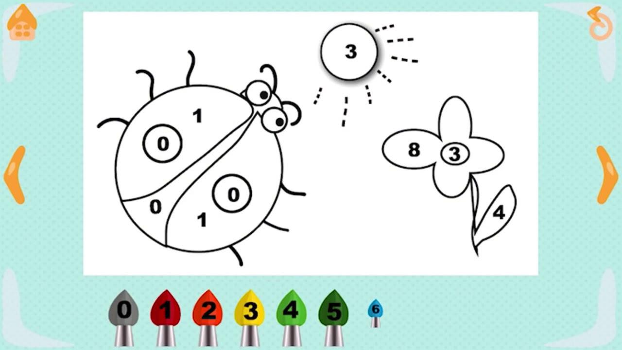 Учим цифры - раскраска для малышей - YouTube