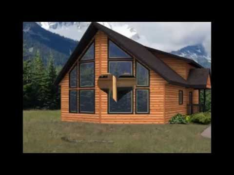 Simple Home Designs with a loft, chalet, lodge style .. Log, Timber Frame, Post and Beam and SIP