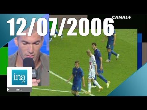 """20 France 2 du 12 Juillet 2006 - Retour sur le """"coup de boule"""" de Zidane    Archive INA"""