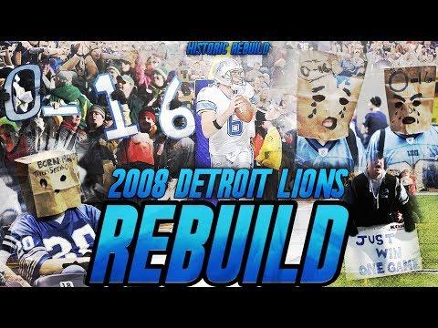 Rebuilding The Worst Team in NFL History | 2008 0-16 Detroit Lions Madden Historic Rebuild