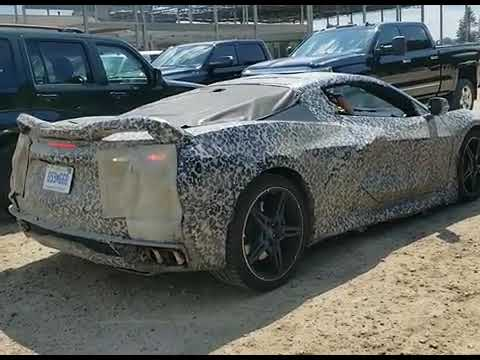 Chevy Corvette C8 Caught At Construction Site