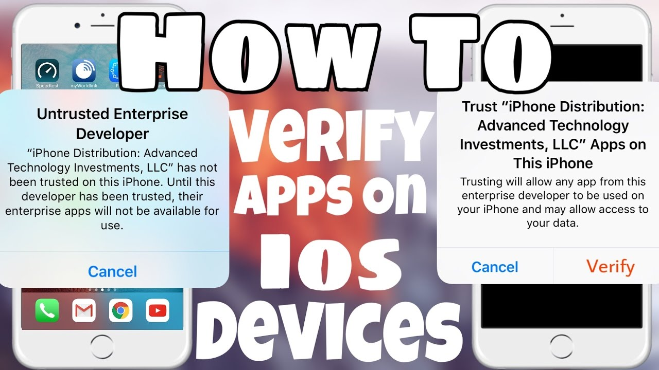 How to verify apps on ios 10