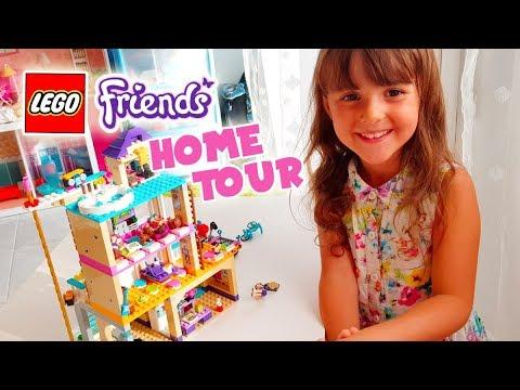 Home Tour Nella Casetta Dellamicizia Lego Friends Youtube