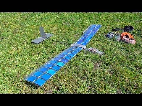RCTESTFLIGHT - Solar Plane V3 FPV Flight to Mountain Peak
