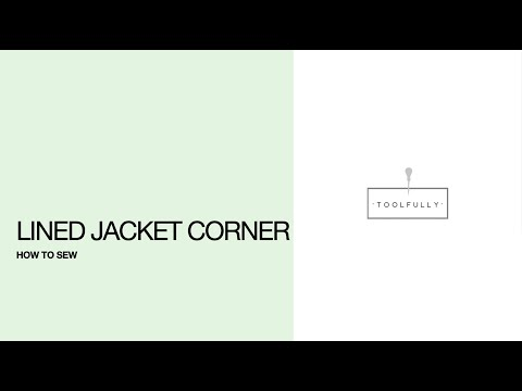 Tailor, lined jacket corner sewing.