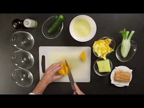 Salmón marinado con ensalada fresca
