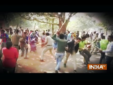West Bengal: Clash between Mob and Police over illegal Construction in Bardhaman