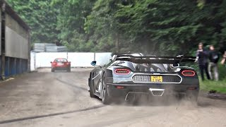 A selection of the latest and best cars going crazy at this years F...