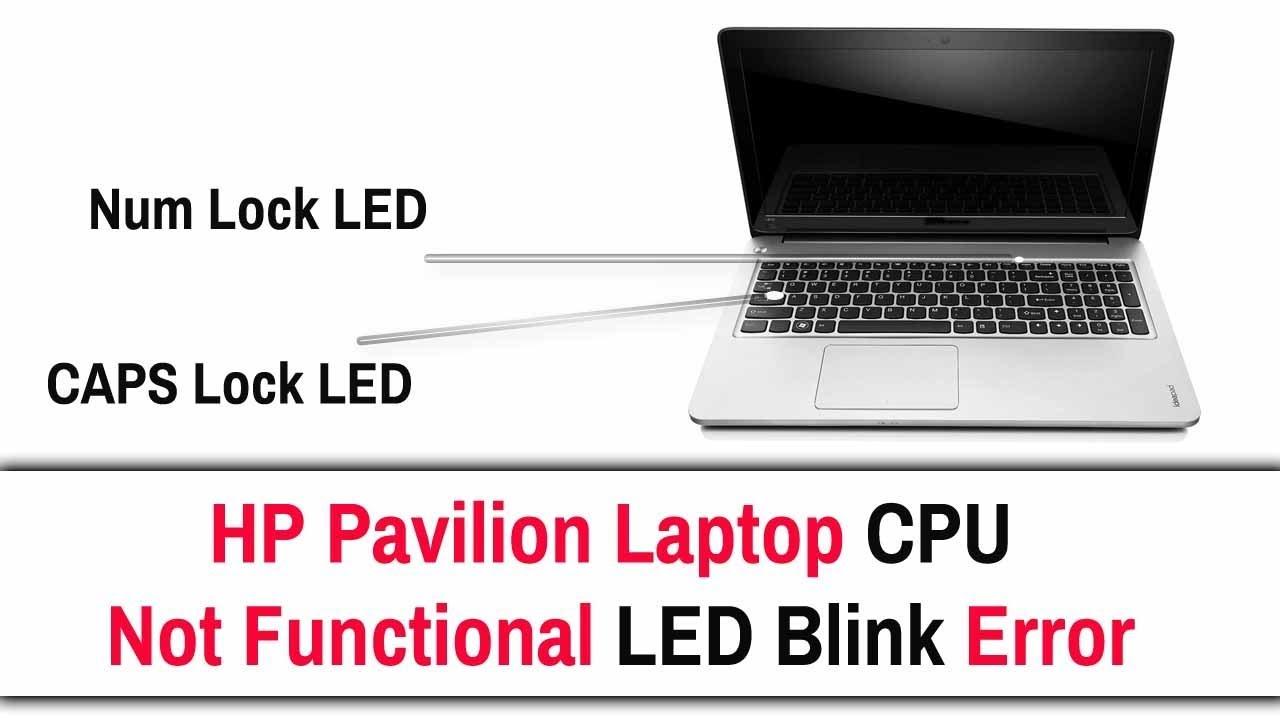 HP Pavilion Once LED Blink Error
