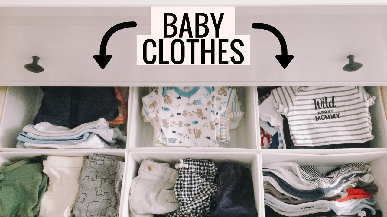 fe3f62cca How To Organize Baby Clothes | Nursery Dresser and Closet Tour - YouTube