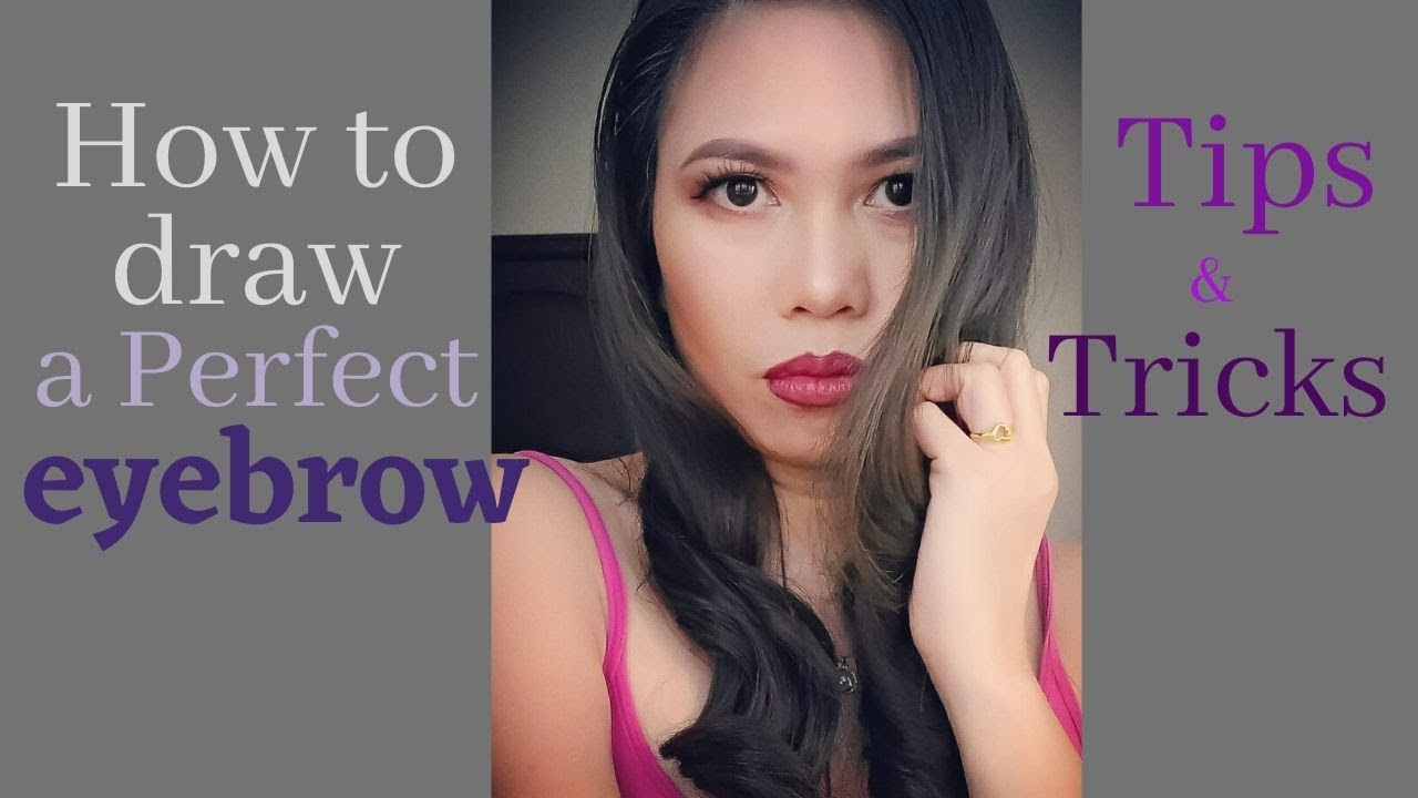 How to draw a perfect eyebrow - YouTube