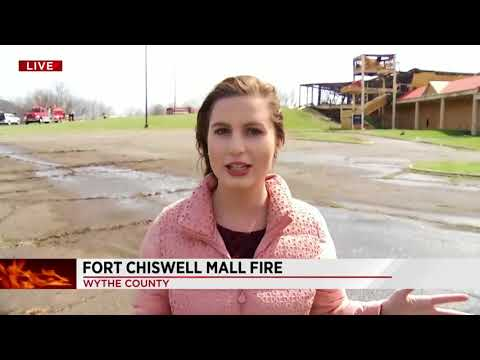 Former outlet mall catches fire in Fort Chiswell