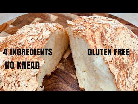 4 Ingredients Bread / No Knead Gluten Free Bread Dutch Oven