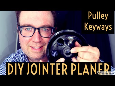 Keyway With Drill Press Homemade Jointer Planer Build