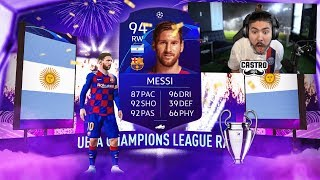 OMG I PACKED MESSI!! UCL PACKS!! FIFA 20
