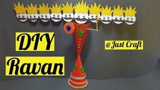 DIY Ravan | Homemade Ravana | Dussehra / Diwali Craft Ideas | Just Craft