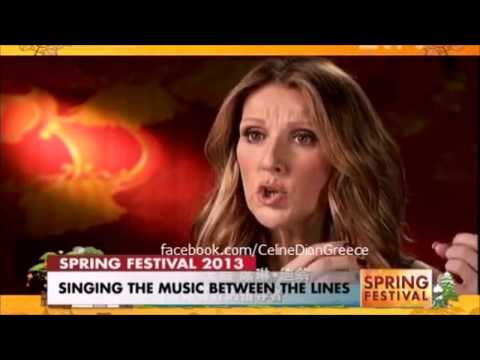 Celine Dion interview by CCTV after singing Jasmine Flower in Chinese Lunar  New Year