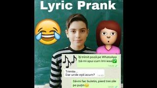 Farsă surorii mele cu versuri din melodii [Lyric Prank]