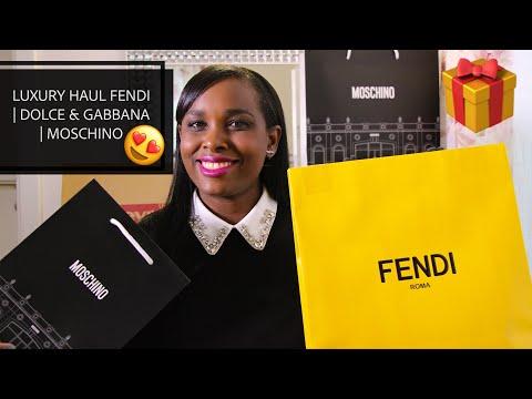 Luxury Haul & Unboxing   Fendi   Moschino   Dolce & Gabbana   Outletcity Metzingen