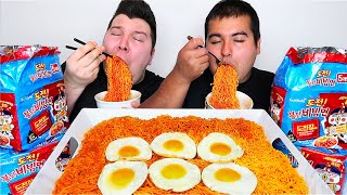 ORLIN IS BACK  CHEESY NUCLEAR SPICY &#39BIBIM&#39 FIRE NOODLES  Mukbang &amp Recipe