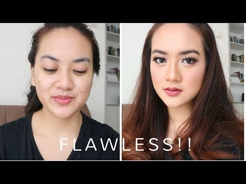 BIKIN MAKEUP FLAWLESS DI MUKA BERJERAWAT - Flawless Mauve Glam Make up Tutorial with Acne Cover