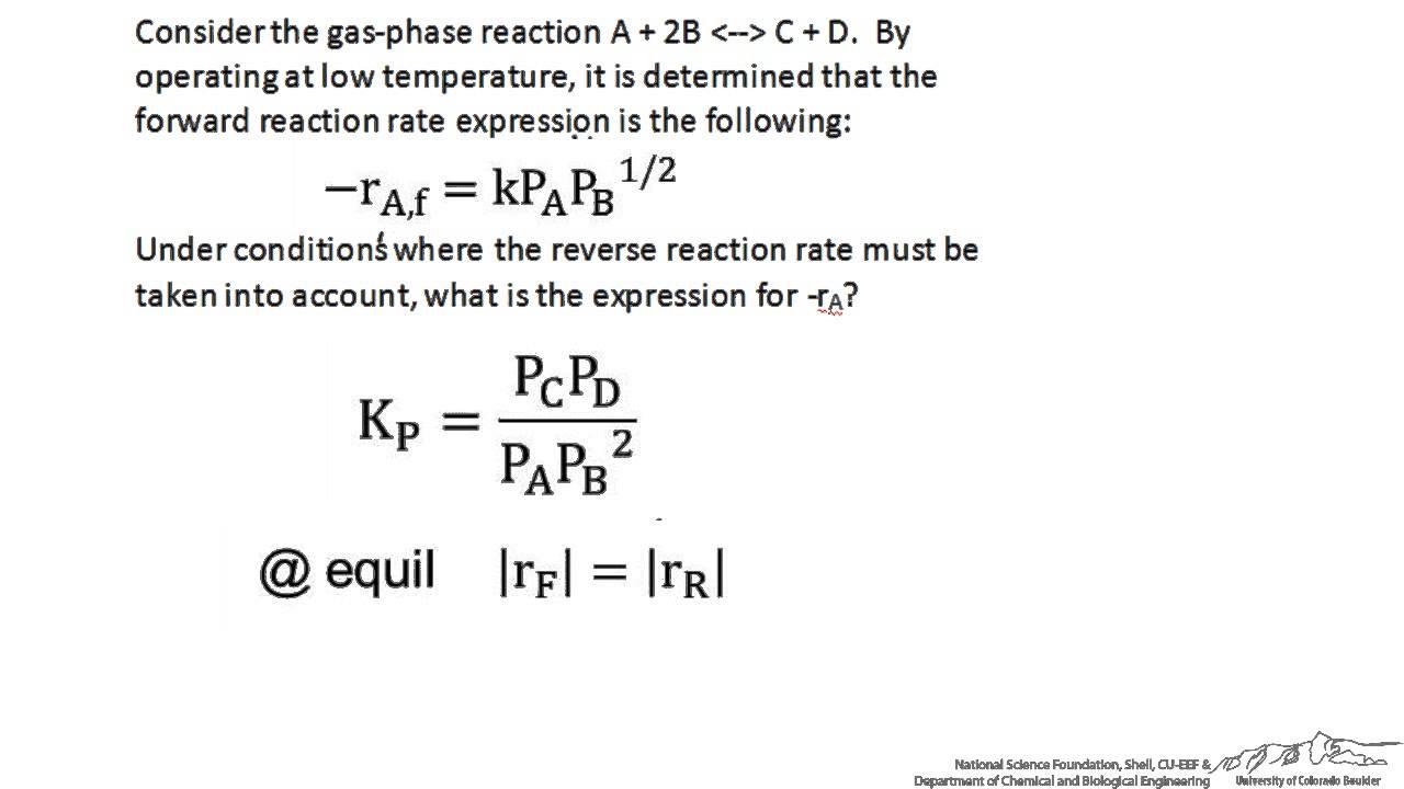 Reaction Mechanisms - derive rate laws