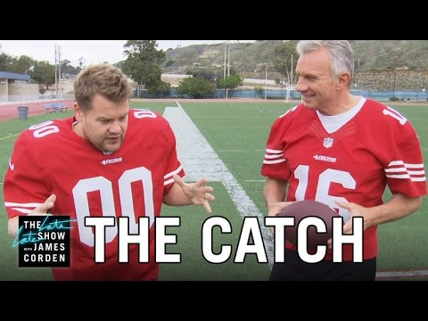 Recreating 'The Catch' w Joe Montana