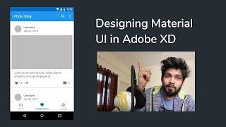 Blog App UI Design - Google Material Design - Adobe XD
