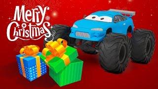 Christmas Monster Truck Cartoon for Kids | Monster Truck Adventures | Special Christmas Episode