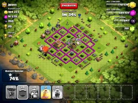 Clash of Clans   40 Level 4 Balloon Attack   #3