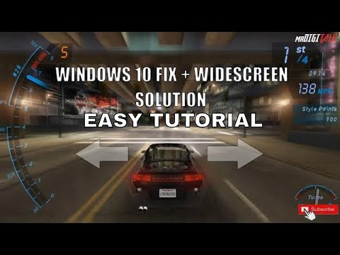 """Need For Speed Underground Windows 10 Fix + Widescreen Tutorial 2020 ENGLISH """"Subscribe For More"""""""