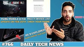 Mi 9 Quad Camera,PUBG 0.11.0,MIUI 11 Device List,Samsung Tab S5e,SD 855 Record Score,Vivo V15 #766
